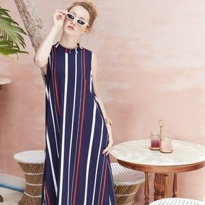 Sleeveless Maxi Dress - Navy